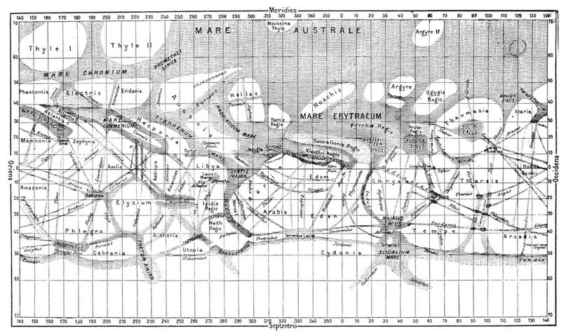 Марсианские каналы с подписями