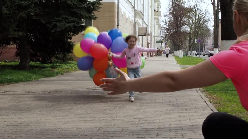 Фотопроект с шариками! Кристина, Саша, Полина и Максим!