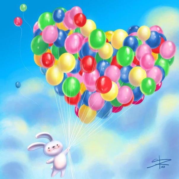 Открытка с днем рождения девушке шары, открытки для прекрасного