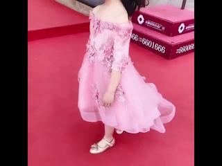 Изысканный shouldless с аппликациями для девочек в цветочек, платье «ласточкин хвост» для девочек подростков; платье принцессы