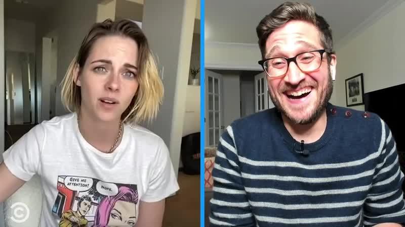 """Kristen Stewart Cold Reads"""" Famous Movie Lines Stir Crazy with Josh Horowitz"""
