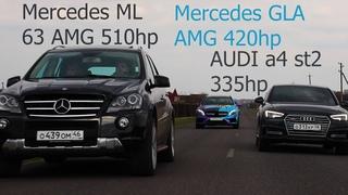 Мощнейшая заруба против канала Never Stop. Mercedes GLA AMG против всех.