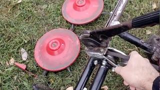 Натяжитель для роторной косилки типа Заря и ее модернизация