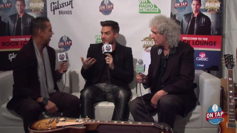 2014 11 04 Classic Rock Roll of Honor VH1 On tap with Adam Lambert Brian May