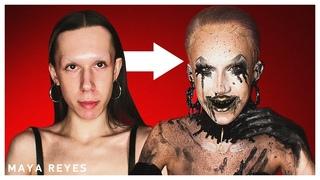 """If greed & anger were a person"" Makeup Tutorial 🖤🌟 | Makeup + Hair | Maya Reyes"