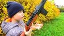 Игрушечное оружие для детей пистолет пулемет ППШ и снайперская винтовка СВД игрушки для мальчиков