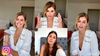 Kaia Gerber Live with Camila Morrone | Book Club: What Red Was | August 14, 2020