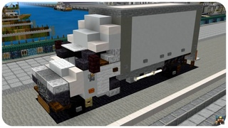 How to Build a Box Truck in Minecraft (Renault Master 2019) Minecraft Box Truck Tutorial