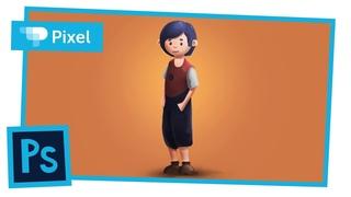 Рисуем крестьянского мальчика в Adobe Photoshop (школа Pixel)
