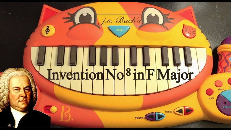 Bach Invention No 8 on Cat Piano