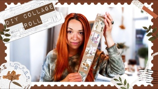 COLLAGE ROLL TUTORIAL   DIY Scrapbook paper collage roll for your traveler's notebook  it'slikelyart