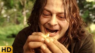 Смеагол убивает своего друга из-за кольца. Властелин колец: Возвращение короля.