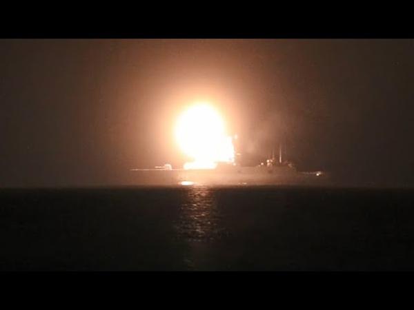 Пуск гиперзвуковой ракеты Циркон с фрегата Адмирал Горшков