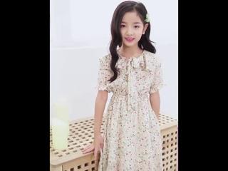 Платье принцессы для девочек подростков летнее клетчатое с цветочным принтом студентов детские