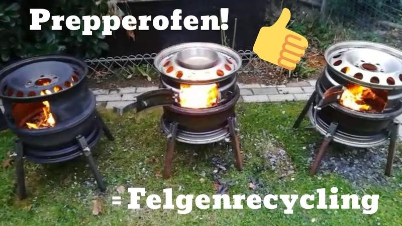 Prepper Ofen Stahlfelgenofen