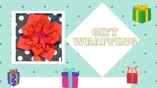 DIY 3D gift wrapping ideas - how to wrap presents / flower star origami