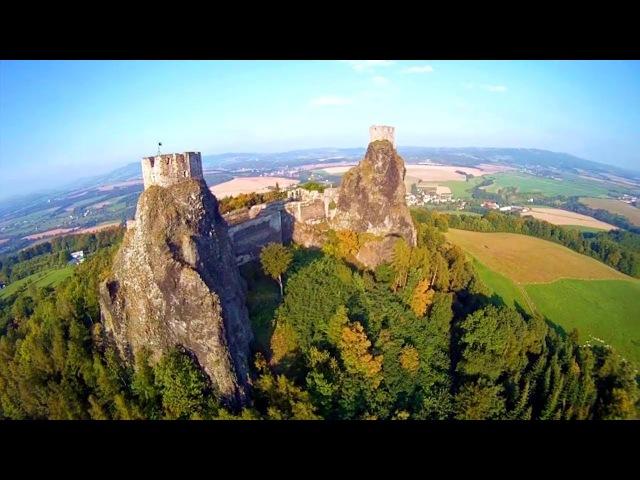 Чешская крепость Троски PPG Hrad Trosky 2011 GoPro HD