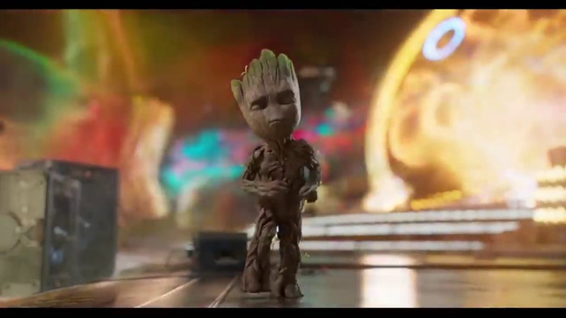Baby Groot dancing to TMG Walk That