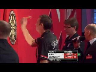 Richie Burnett vs Dean Winstanley (PDC World Darts Championship 2014 / Round 1)