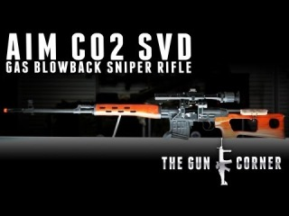 EvikeTV [The Gun Corner] - AIM CO2 Gas Blowback AK SVD Airsoft Sniper Rifle