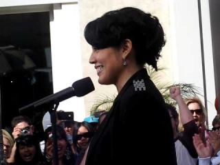"""Sara Ramirez singing """"The Story"""" at The Grove in Los Angeles"""