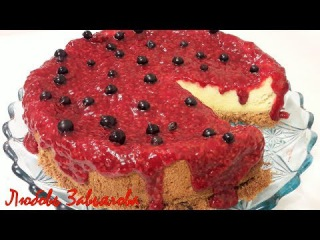 Творожный тортик с малиной/Cake with cottage cheese and raspberries