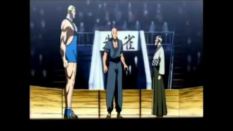Aikido vs giant wrestler anime fight