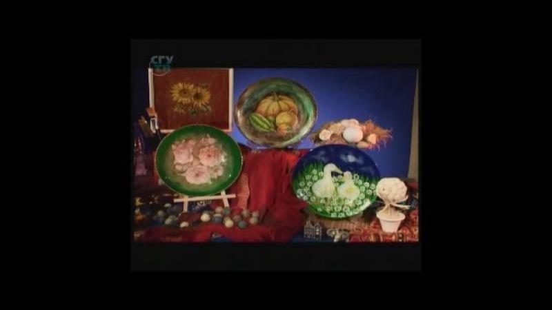 Художественный декупаж тарелки Мастер класс Наташа Фохтина