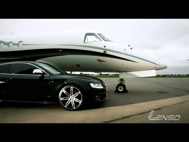 Black Audi S5 on 20 Lenso Conquista II Concave Wheels Rims