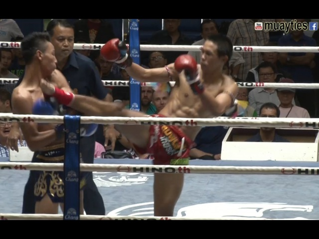 Yodpanomrung Jitmuangnon (137lbs,RED) vs Litteweda Sittikoon (137lbs,BLUE) - New Lumpini Stadium, Bangkok, 5th June 2015