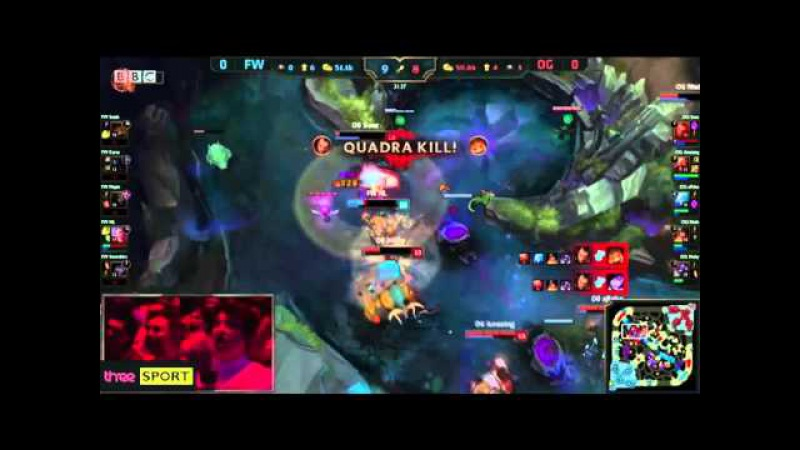 Soaz Darius Pentakill vs Flash Wolves BBC Casted by Deman and Stress