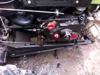Мотоблок. Если вытащить щуп при работающем двигателе....