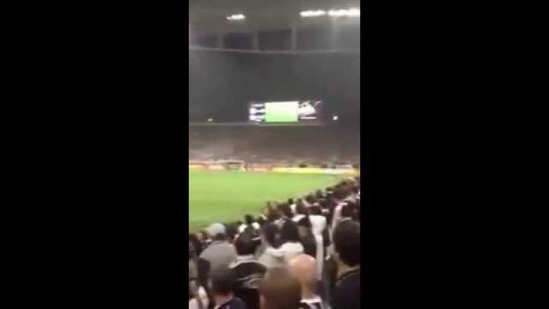Torcida de Santos e Corinthians - Itaquerão ( Copa do Brasil)