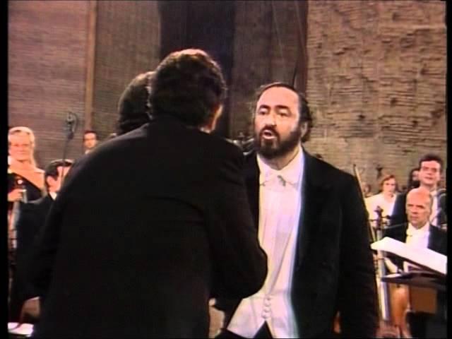O Sole Mio Pavarotti Carreras Domingo Rome 1990 DVD quality