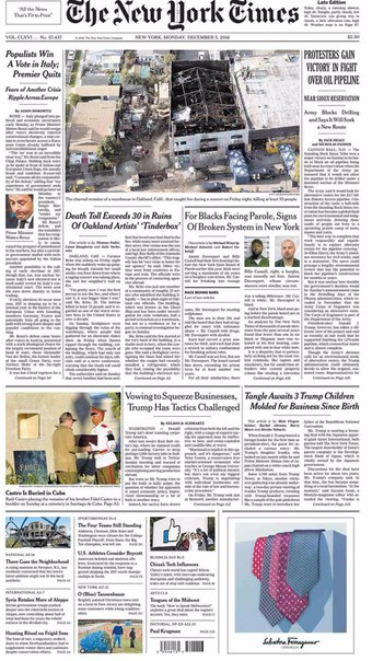 The New York Times  December 05 2016