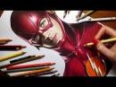 Speed Drawing The Flash - Grant Gustin Jasmina Susak
