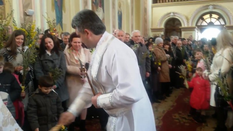 Вербна неділя у Тисмениці 2016 року