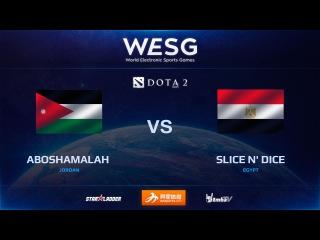 [RU] aboshamalah  vs SliCe N' Dice, game 2, WESG Dota 2 Africa & Middle East LAN Finals