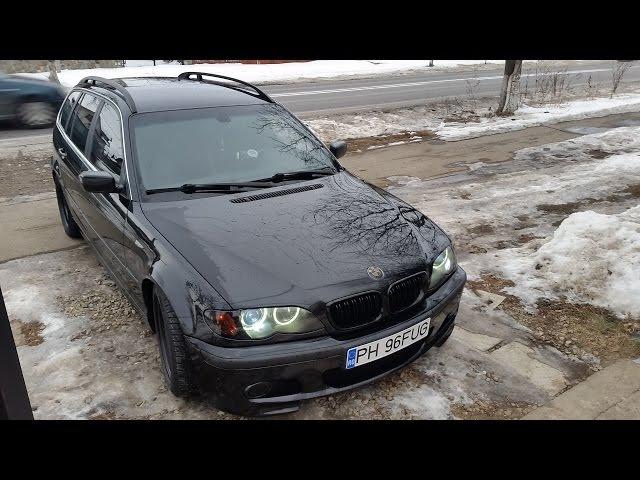 BMW 320d E46 150hp Straight Pipe First run