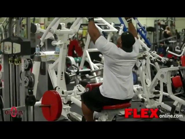 Тренировки профи Фил Хит Phil Heath тренировка мышц спины подготовка к Олимпии 2013