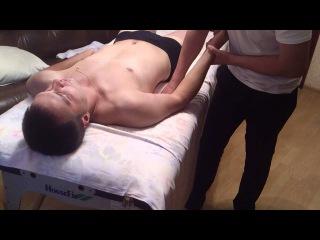 Массаж руки ( разминания в положении пациента лежа на спине ).