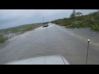 Hurricane Joaquin conditions   Flooding in Exuma, Bahamas   Oct 1, 2015