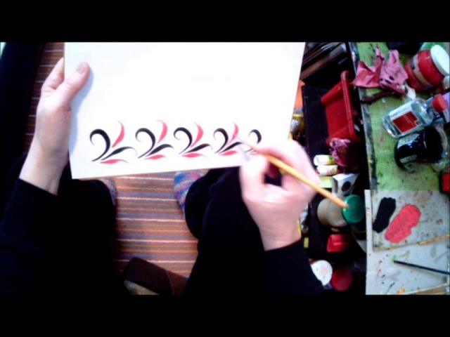 Хохлома. МК №2 Как писать узор травка. How to paint travka . Malerei Hohloma Grass