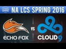 FOX vs C9 - NA LCS 2016 Spring W1D2 - Echo Fox vs Cloud9