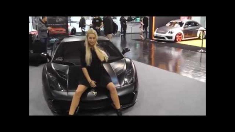 Lamborghini Gallardo - Sexy Hostess - Essen Motot Show 2014