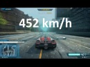 Need For Speed Most Wanted 2 2012 Koenigsegg Agera R Extra TopSpeed @ 452 kmh 282 5 mph