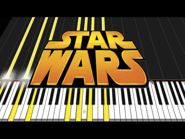 Star Wars Medley Piano Tutorial Synthesia David Kaylor