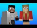 Ярик Лапа и Вика Лапа лепят снеговика - Майнкрафт мультик на русском АнекдотМайнкрафт Анимация