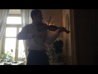 Скрипач на свадьбе. Дмитрий Волков играет Брамса.