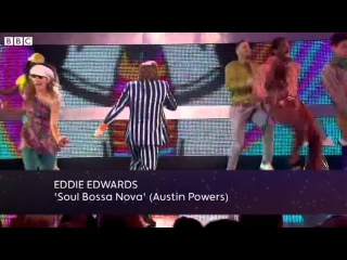 Eddie the Eagle Edwards Does Austin Powers - Let's Dance for Sport Relief 2012 - BBC One